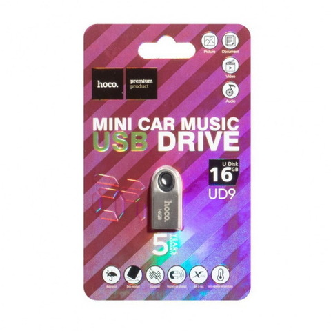 Накопитель HOCO USB Insightful Smart Mini Car UD9 16GB, silver
