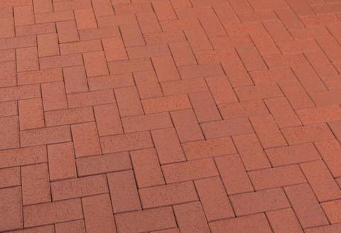 Feldhaus Klinker - P402KF, Gala plano, красный с оттенками, 200x100x45 - Клинкерная тротуарная брусчатка