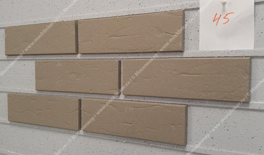 ABC - Objekta, Grau, genarbt, 240х71х10, NF - Клинкерная плитка для фасада и внутренней отделки