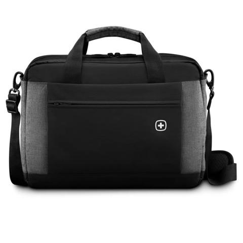 Портфель для ноутбука Wenger (601057) 16'', черный/серый, 43x9x31 см, 9 л