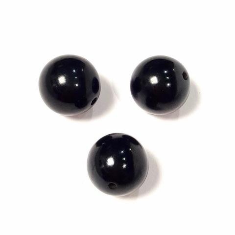 Бусины гагат шар гладкий 15 мм 1 бусина