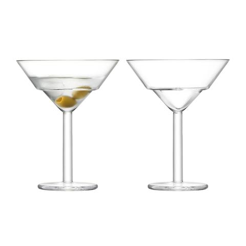 Набор из 2 бокалов для мартини Mixologist LSA International, 230 мл