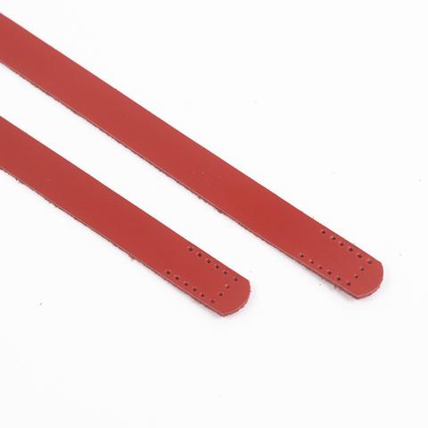"""Ручки кожаные пришивные """"Красные"""" 2шт. 50см"""