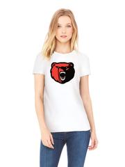 Футболка с принтом Медведь, Медвежонок (Bear) белая w007