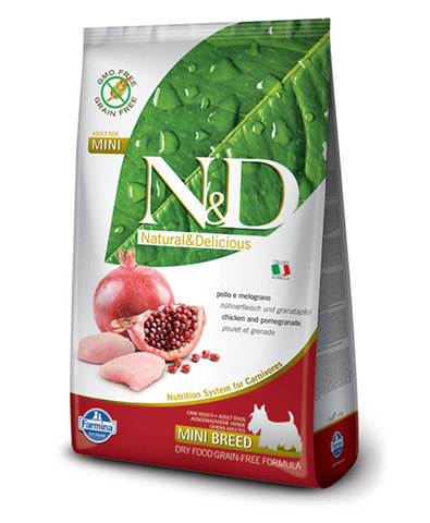 Farmina N&D Dog сухой корм для собак мелких пород (курица с гранатом) 2,5 кг