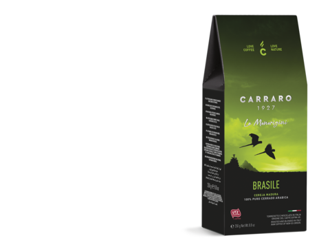 Carraro Brasile моносорт (Карраро Бразилия) 250 г. кофе молотый