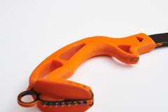 Kolyma 20  /30ХГСА/4мм/моноблок /ручка армированый  полиуретан оранж/ длинна  390 мм/ вес 512 гр