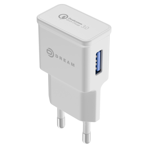 Зарядное устройство Quick Charge 3.0 Dream белый