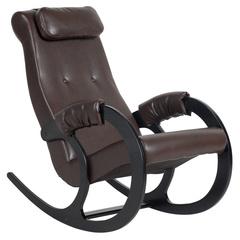 Кресло-качалка Блюз Экокожа (Chocolate)