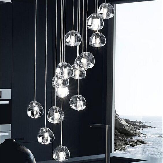 Подвесной светильник копия  Mizu by Terzani (5 подвесов)