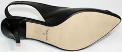 Черные туфли босоножки Kluchini 5190 Black.