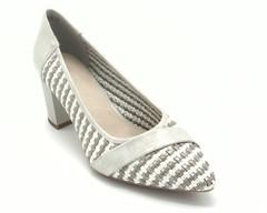 Туфли серебро искусственные с плетеным верхом