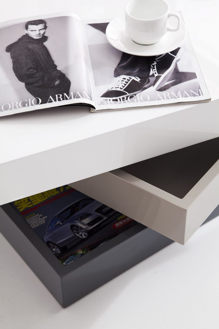 Стол журнальный CT1001 белый/серый