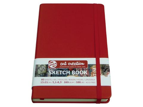 Скетчбук для смешанных техник Art Creation 160г/кв.м 9х14 см 80л твердая обложка красный