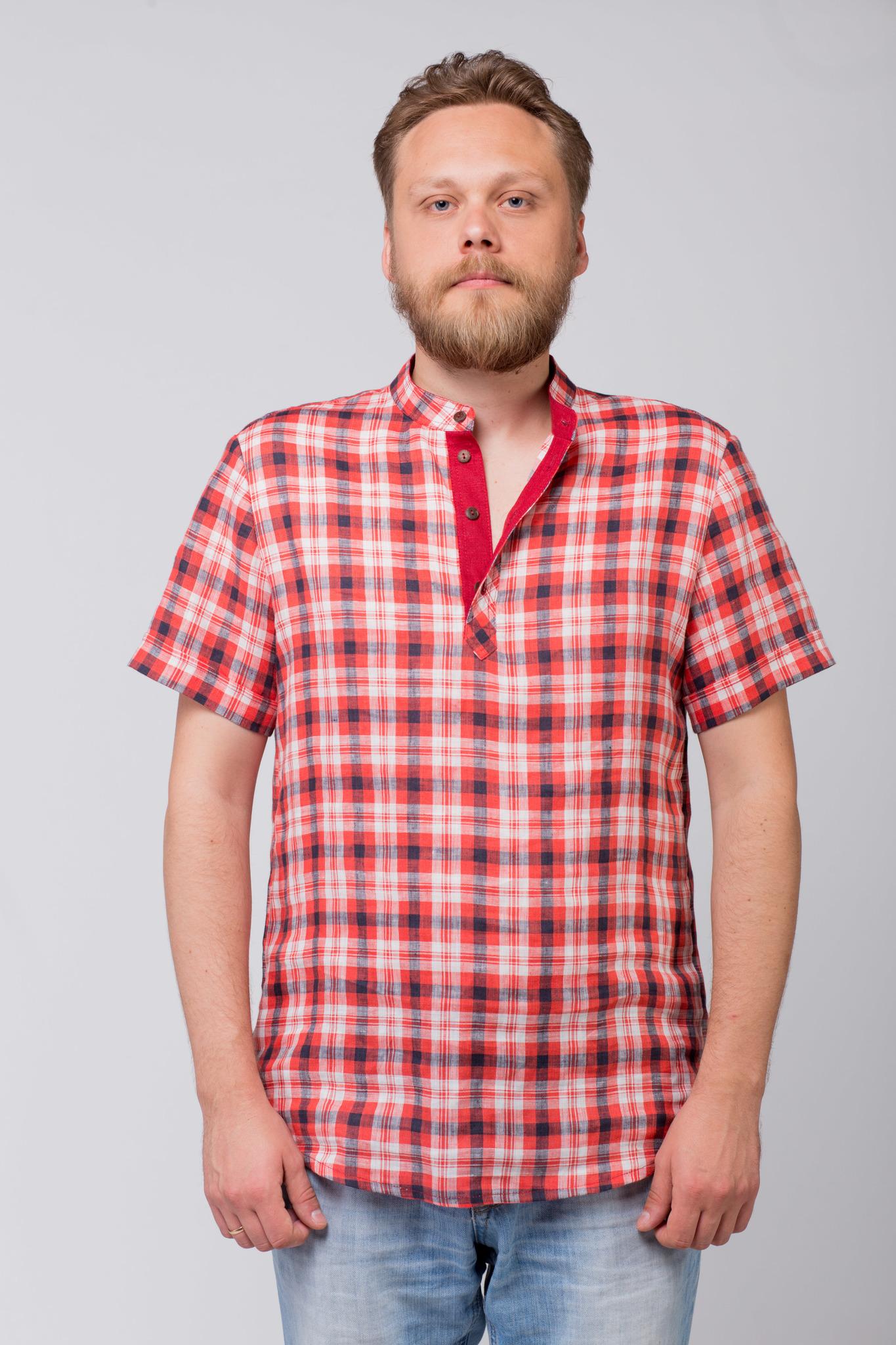 Рубашка льняная Амурская застёжка поло