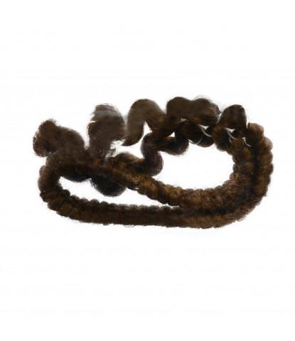 Шерсть креп (искусственные волосы) Mehron темно-коричневая