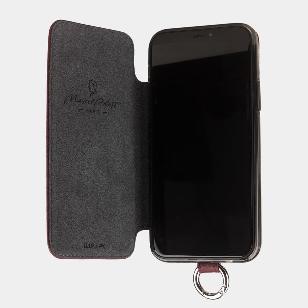 Чехол Marcel для iPhone 11 Pro из натуральной кожи теленка, бордового  цвета