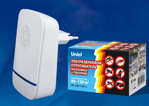 UDR-E12 IVORY Ультразвуковой отпугиватель насекомых и грызунов.  220В. Площадь до 120м2. Слоновая кость. TM Uniel