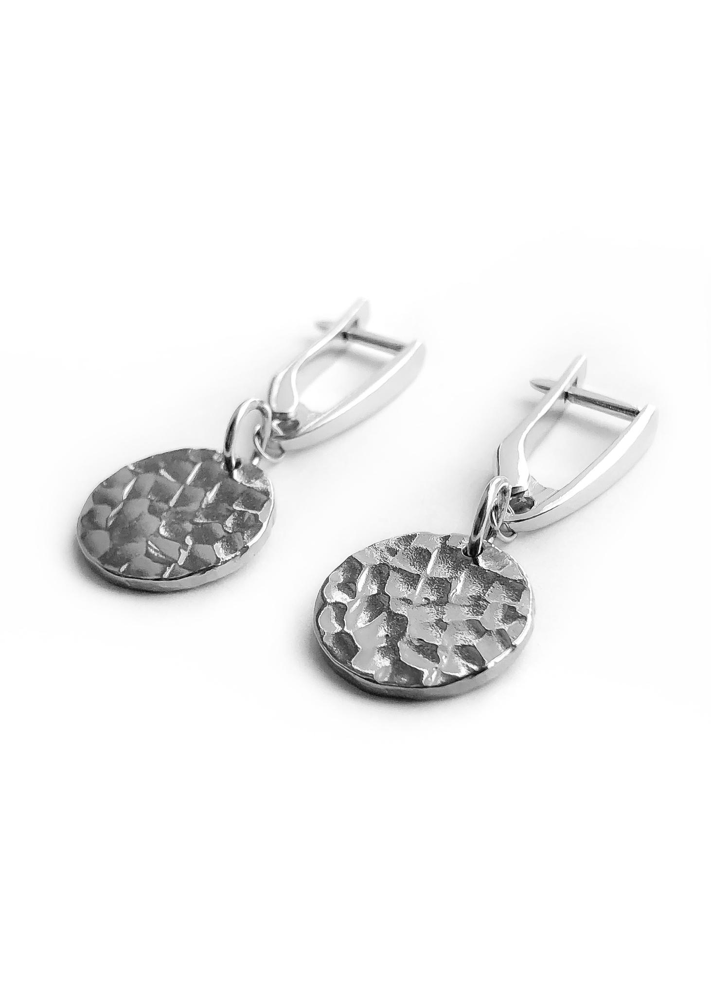 Серебряные серьги с медальонами