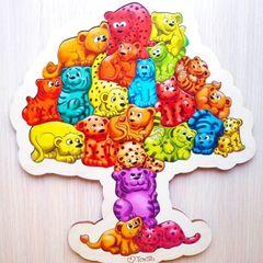 Пазл из дерева 22 хвоста ToySib 01071