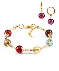 Комплект Carnavale Oro (браслет и серьги Piccolo фиолетовые)