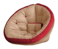 Кресло Farla Lounge Бежевое с красным