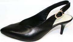 Черные закрытые босоножкии Kluchini 5190 Black.