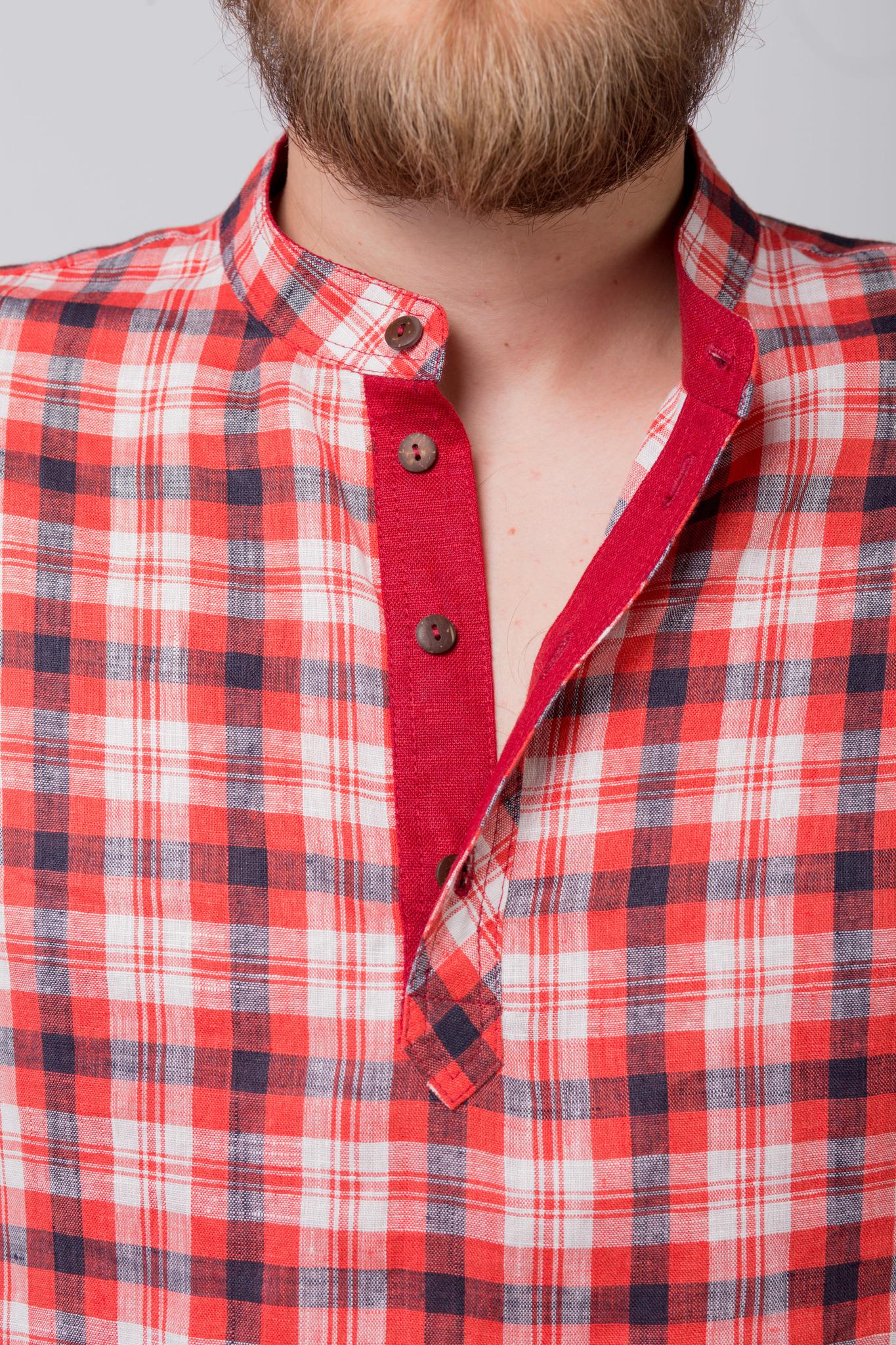 Рубашка льняная Амурская приближенный фрагмент