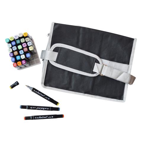 Набор спиртовых маркеров Touch Cool в сумке-пенале с наплечным ремнем