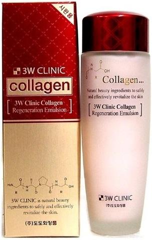 3W CLINIC КОЛЛАГЕН/Эмульсия для лица Collagen Regeneration Emulsion, 150 мл