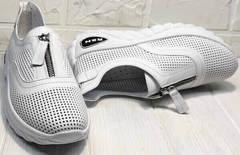 Кожаные сникерсы женские кроссовки из натуральной кожи Wollen P029-259-02 All White.