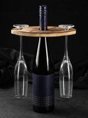 Держатель для бокалов на бутылку «Эко», обожжённая, сосна, фото 1