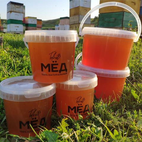 Мёд цветочный начало лета 2021 Ивановка 0,9 литра (1,35 кг)