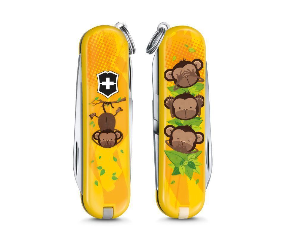 Складной нож-брелок Victorinox Classic LE 2016 3 Wise Monkeys (0.6223.L1607)