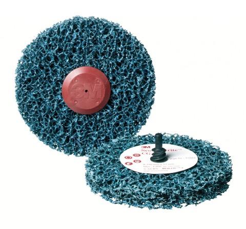 3M Scotch-Brite™ Roloc™ + Clean and Strip CG-ZR Круг, S XCS, голубой, 100 мм х 13 мм, № 57018