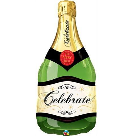Воздушный шар фигура Бутылка шампанского Празднуем!, 99 см
