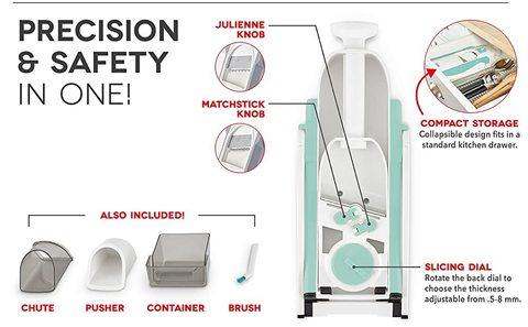Овощерезка SAFE SLICE. 30 + вариантов нарезки