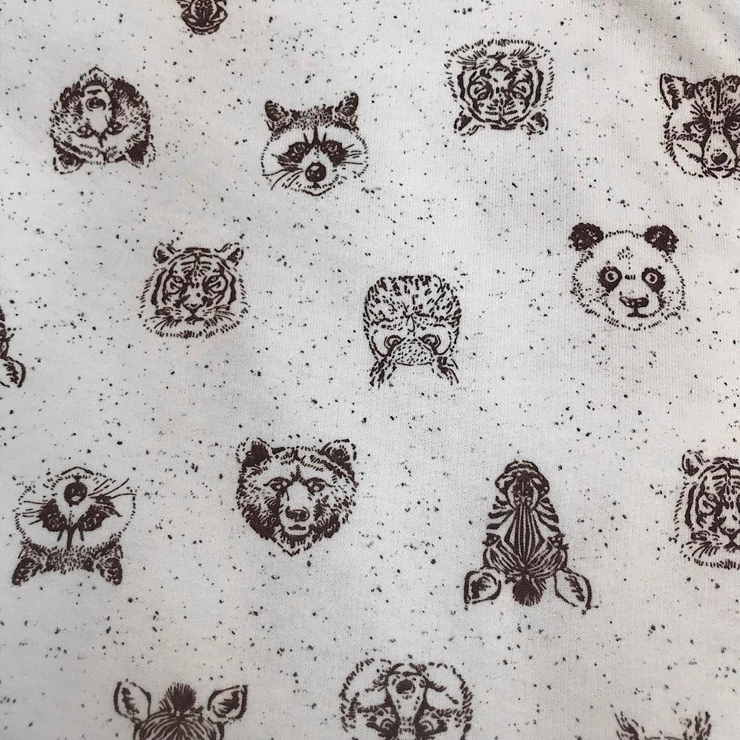 ФЛАНЕЛЬ зоопарк - детская простыня на резинке 80х170