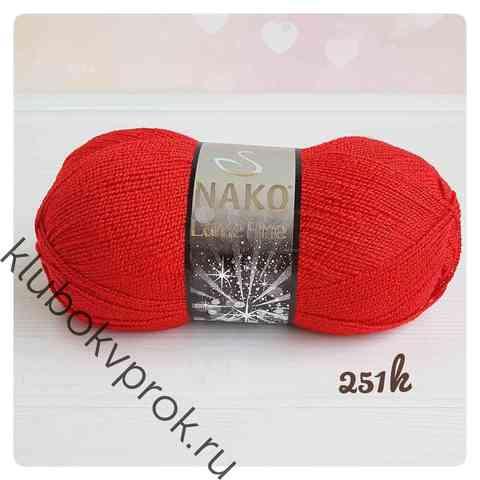NAKO LAME FINE 251K, Красный