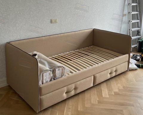 Кровать-софа Sontelle Аланд 3 спинки с выкатными ящиками