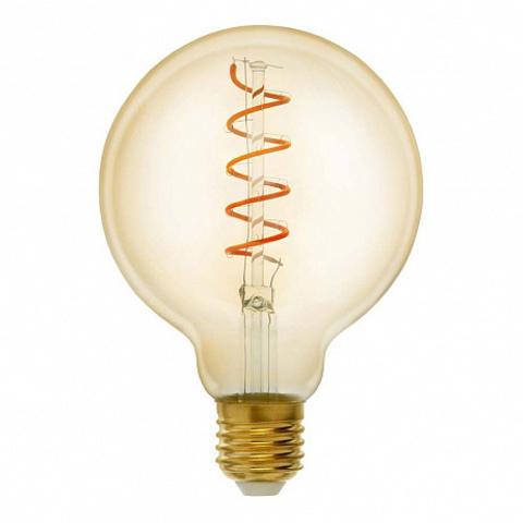 Светодиодная ретро лампа G95 LED Spiral 6W E27 2400K