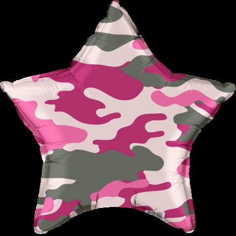 Звезда, Розовый камуфляж (46см)