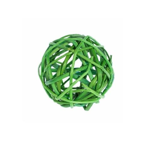 Плетеные шары из ротанга (набор:12 шт., d5см, цвет: зеленое яблоко)