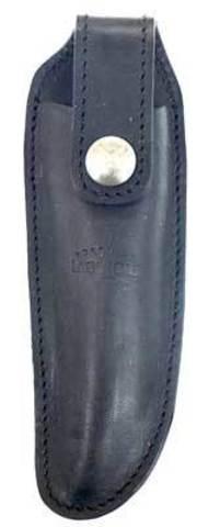 Чехол кожаный на пояс для складного ножа с лезвием 11 см. черного цвета., Forge de Laguiole, дизайн AUBRAC A 2 N