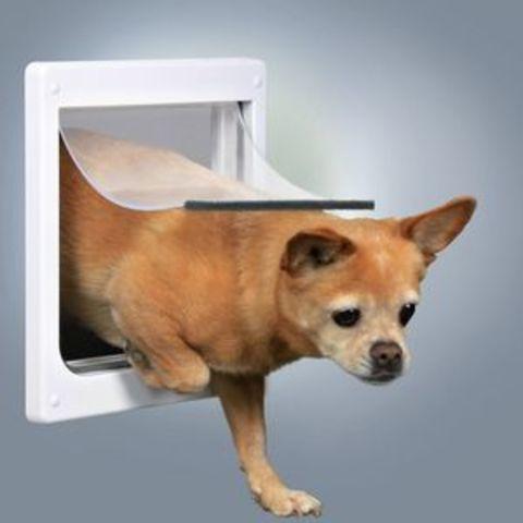 Trixiе 3877 Дверца д/кошек и собак с 2-мя функциями 20*21см (белая)