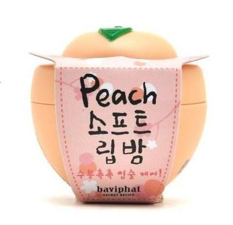 BAVIPHAT (URBAN DOLLKISS) Lip Бальзам для губ персик Peach Soft Lip Balm 6гр