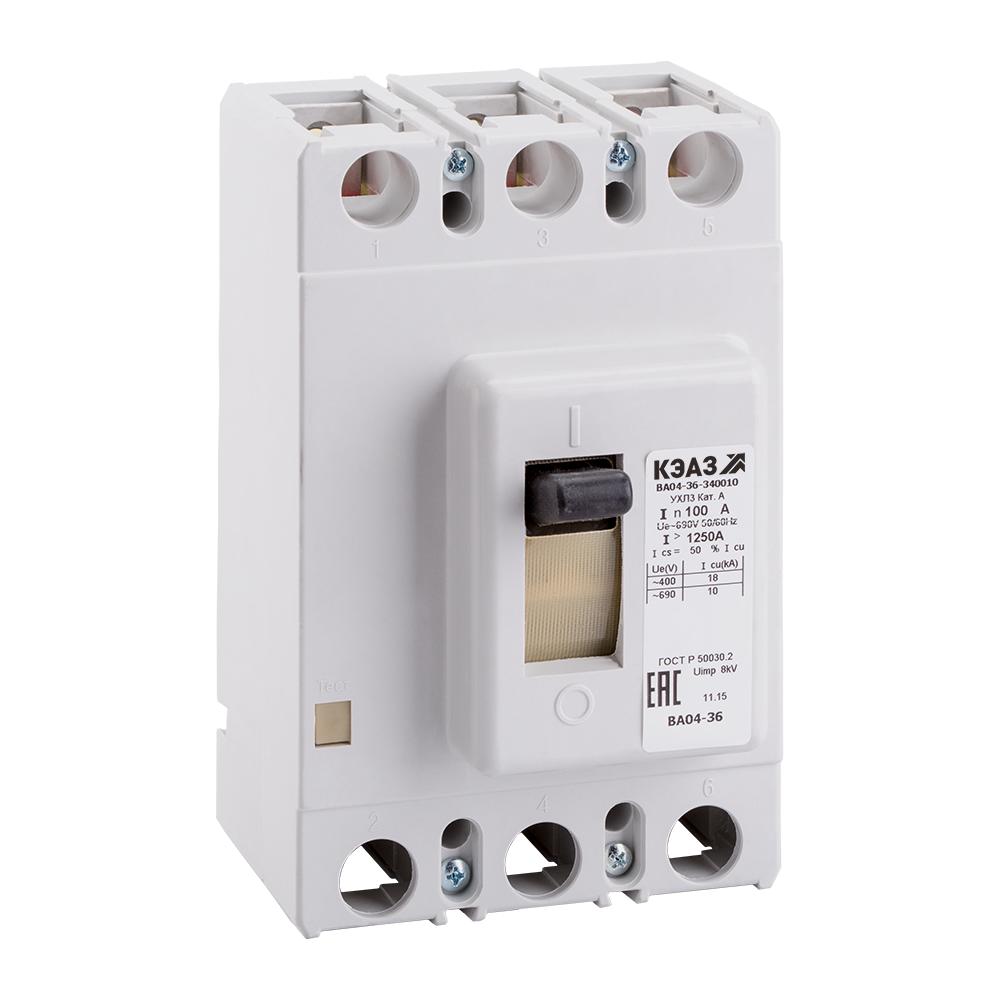 Выключатель автоматический ВА04-36-340010-160А-2000-690AC-УХЛ3-КЭАЗ