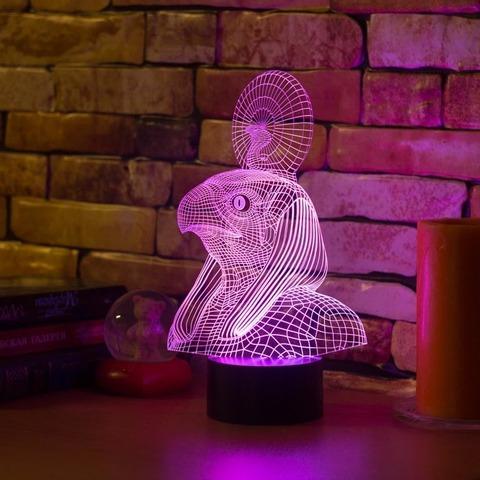 3D светильник Египетский Бог Ра
