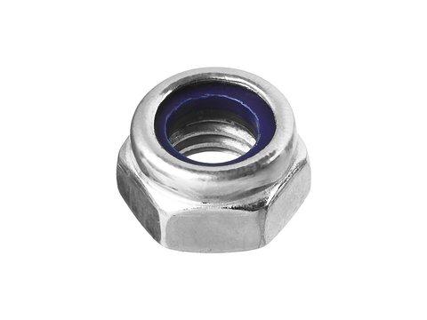 Гайка DIN 985 с нейлоновым кольцом, M8, 8 шт, кл. пр. 6, оцинкованная, ЗУБР
