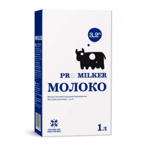 Молоко Promilker ультрапастеризованное 3.2%, 1 л